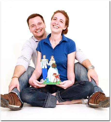 cliquez pour accder au visuel explicatif - Figurine Mariage Personnalise